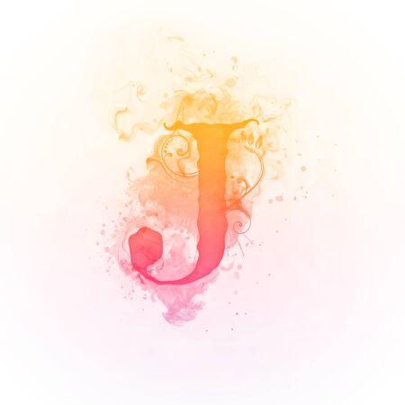 swirl: Sunny Swirl Letter J