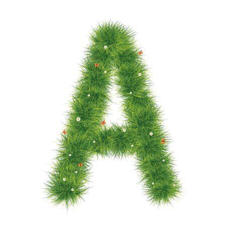 Grass Alphabet A-Z Stok Fotoğraf - 9446043