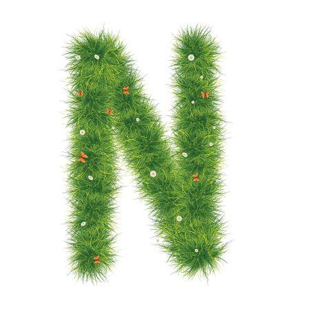green environment: Grass Alphabet A-Z