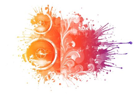 musica electronica: Acuarela textura