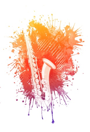 saxophone: Watercolor Saxophone