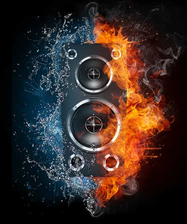 Acoustic Loudspeaker Stock Photo - 9632230
