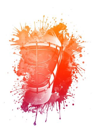 watercolour: Hockey Helmet