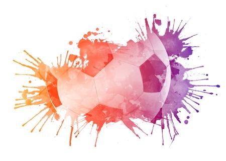 watercolour: Soccer ball
