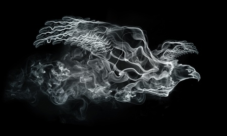 eagle flying: Smoke Eagle