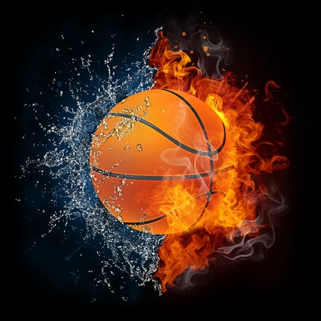 fire symbol: Basketball Ball