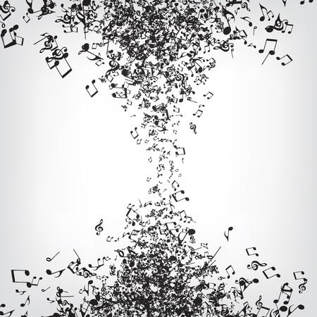 Texture di note di musica