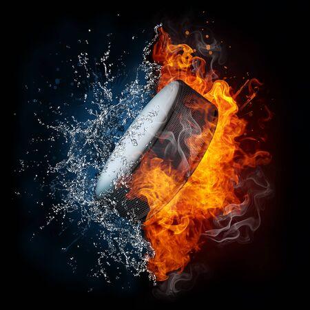 hell fire: Hockey Puck