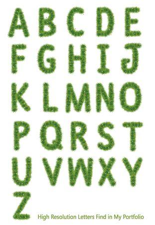 isolated: Grass Alphabet A-Z