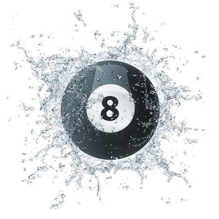 eight ball: Pool Billiards Ball