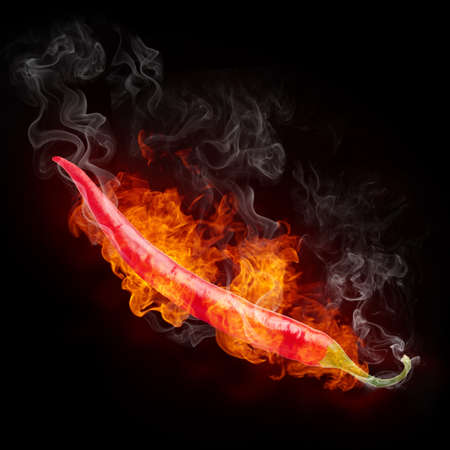 clr: Hot Pepper Stock Photo