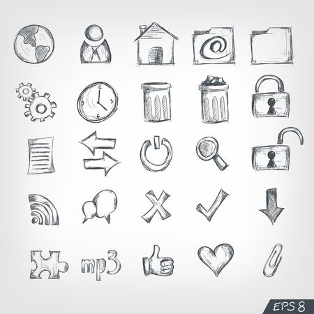 Sketch Icon Set Stock Vector - 10097944