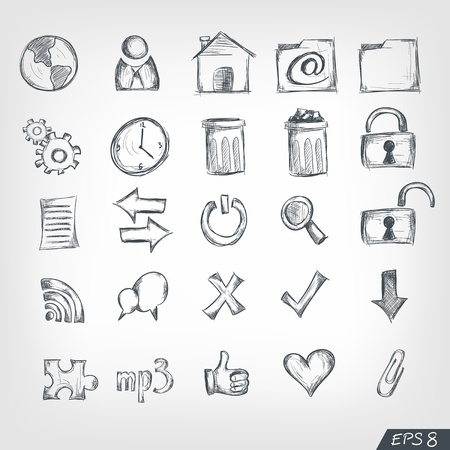 icons site search: Sketch Icon Set