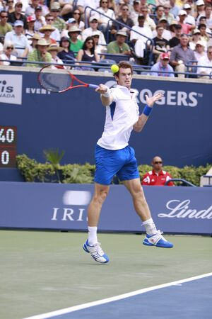 TORONTO: AUGUST 15. Andy Murray plays against Roger Federer in the Rogers Cup 2010 finals on August 15, 2010 in Toronto, Canada.