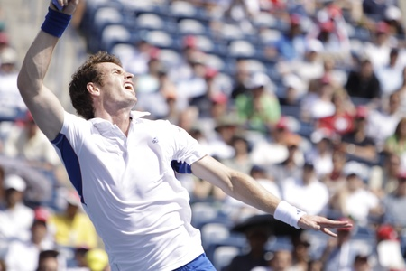 andy: TORONTO: AUGUST 13. Andy Murray plays against David Nalbandian  in the Rogers Cup 2010 on August 13, 2010 in Toronto, Canada. Editorial