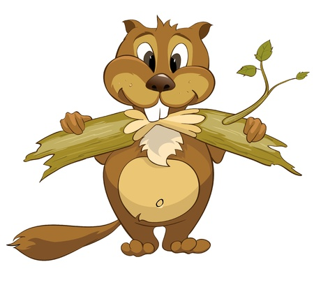 Cartoon karakter Beaver Stock Illustratie