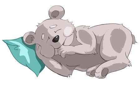 만화 캐릭터 곰 일러스트