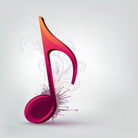 music abstract: Music Note Illustration