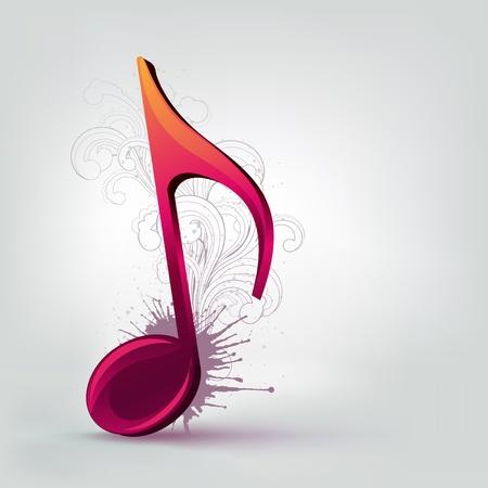 simbolos musicales: Nota de m�sica Vectores