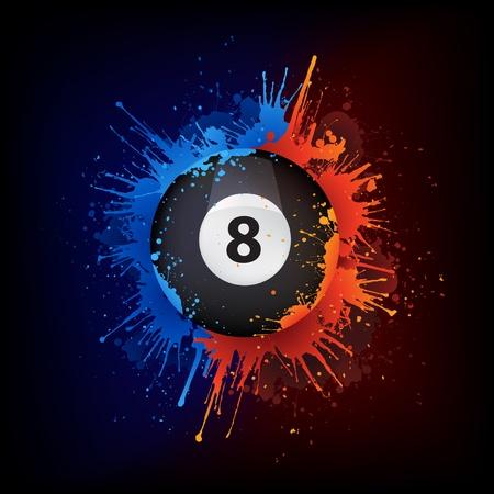 Pool Billiards Ball Vector