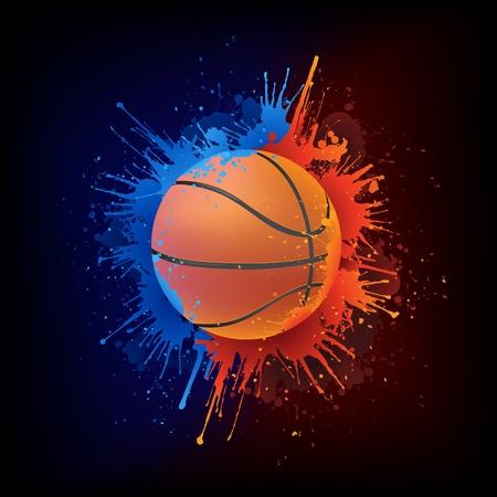 baloncesto: Bal�n de baloncesto Vectores