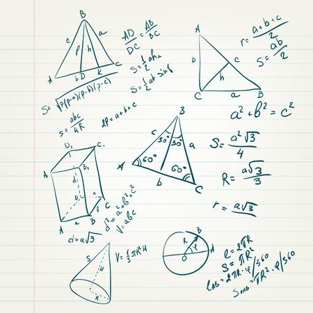 math paper: Back to School Illustration