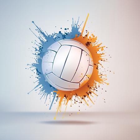 волейбол: Волейбол мяч Иллюстрация