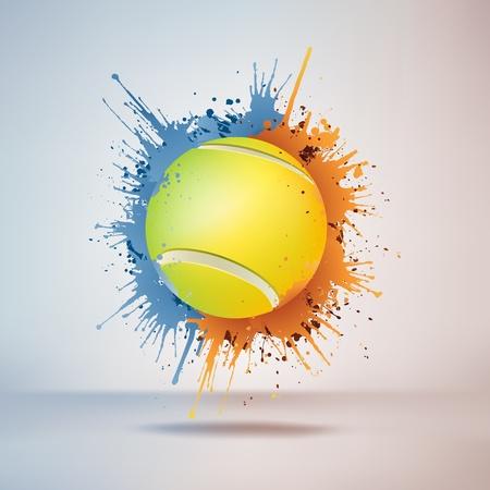 Pelota de tenis Ilustración de vector