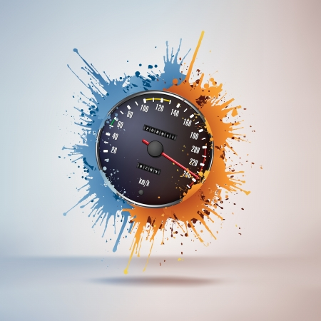 Speedometer Stock Vector - 10351849