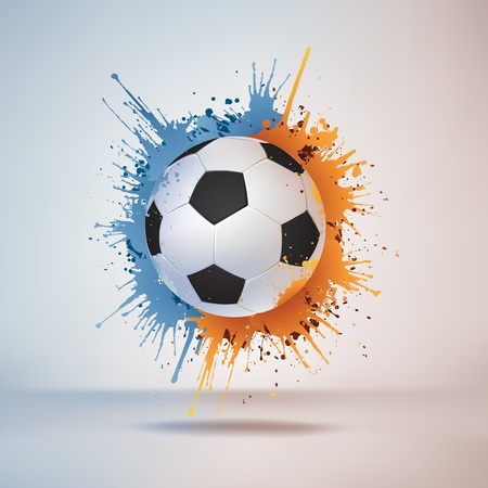 colour splash: Soccer Ball Illustration