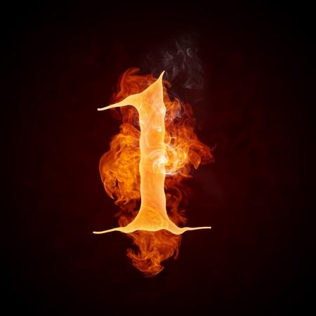 Fire Letters AZ Stockfoto