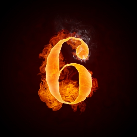 Fire Letters A-Z Stock Photo - 10360534