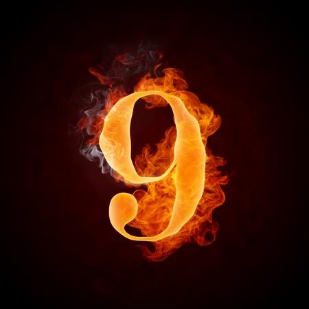 Fire Letters A-Z Banco de Imagens - 10360536