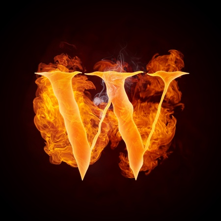 Fire Swirl Letter W Stock Photo - 10360553