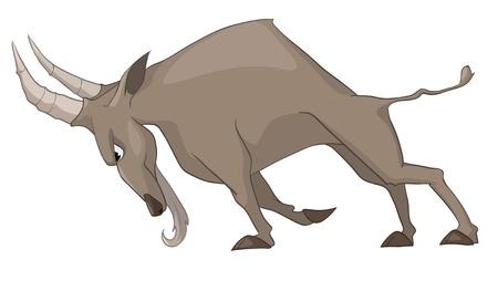 macho cabrio: Cabra de personaje de dibujos animados aislada sobre fondo blanco. Vectores
