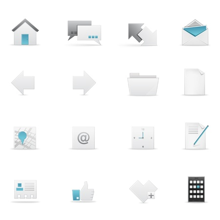 website buttons: Icon set