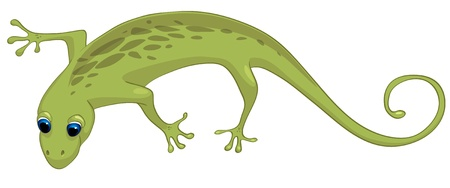 Cartoon Character Lizard Vector