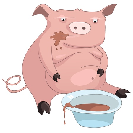 Cartoon Character Pig Vector