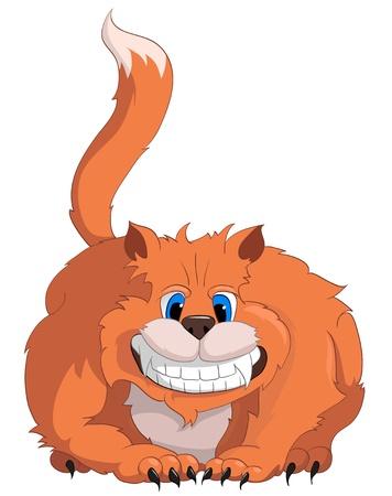 unfriendly: Cartoon Character Cat Illustration