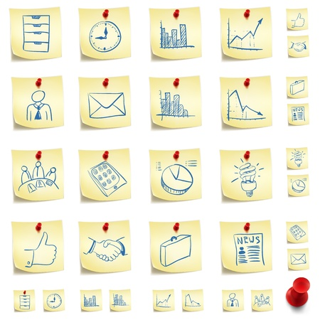 post it notes: Sticker Icon Set