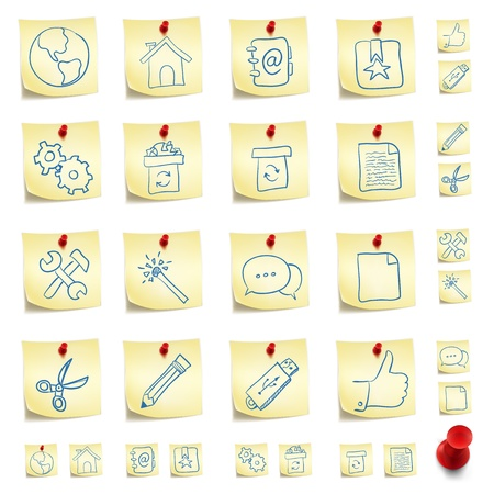 sticky paper: Sticker Icon Set