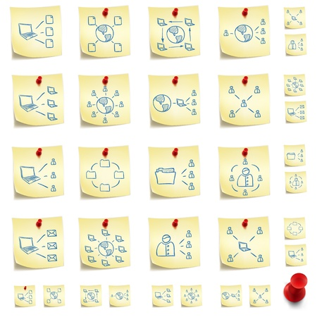 post it note: Adesivo Icon Set