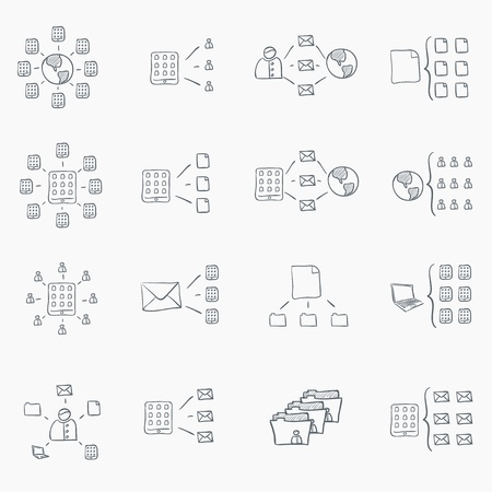 business: Sketch Icon Set
