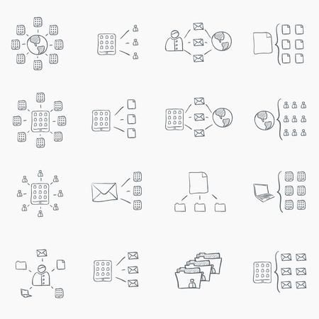 Sketch Icon Set Banque d'images - 10577956