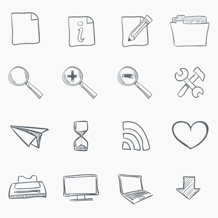 printer drawing: Sketch Icon Set
