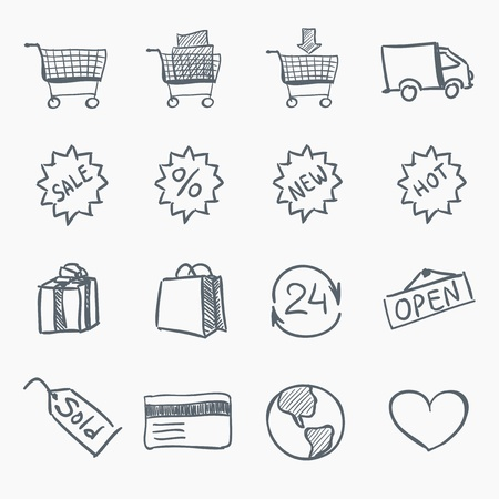 e cart: Sketch Icon Set