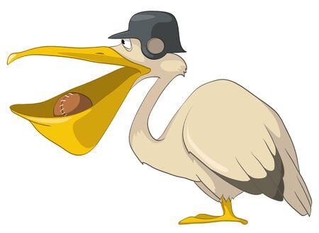 Pelican de personaje de dibujos animados Foto de archivo - 10613975