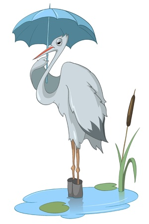 Cartoon Character Stork 向量圖像
