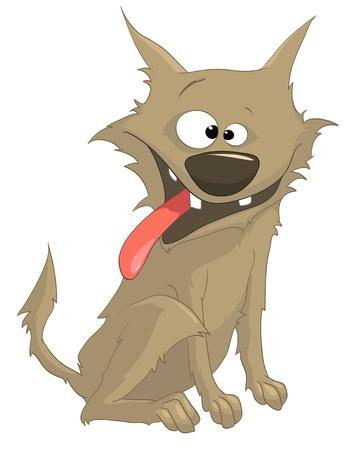 cunning: Perro de dibujos animados car�cter Sly Vectores