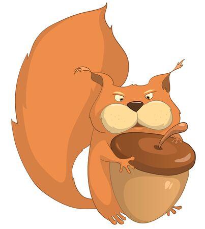 Cartoon Character Squirrel Фото со стока - 10613990